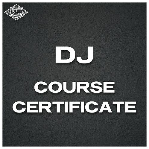 DJ Course Certificate