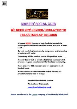 30. Maerdy Social Club - Poster - 100917