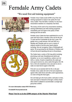 26. Ferndale Army Cadets - poster - 261017