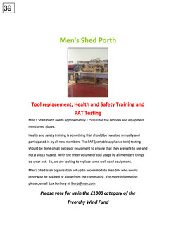 39. Mens Shed Porth - Poster - 241017