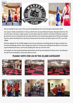 29. Maerdy Boxing Club Poster 2017