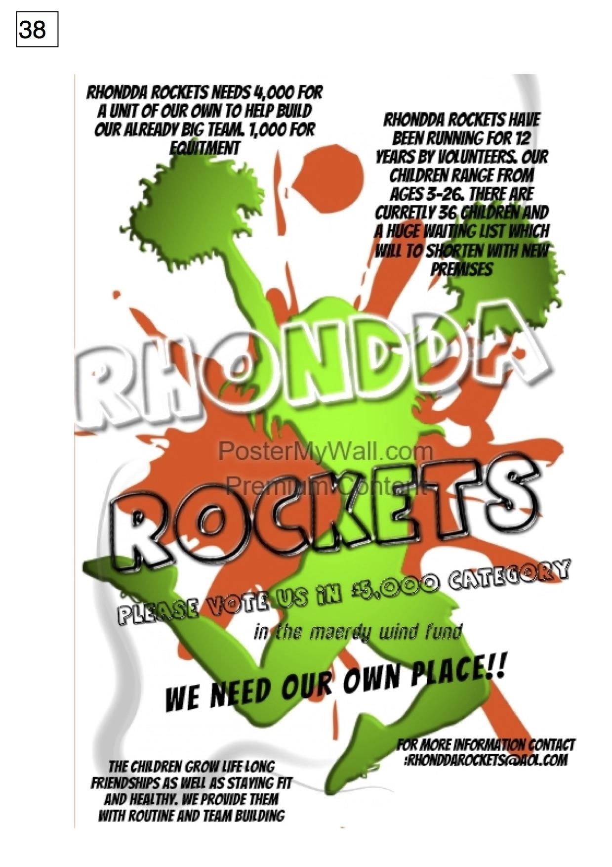 38. Rhondda Rockets - Poster - 261017