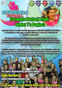 21. Rhondda Netball - Poster - 100917