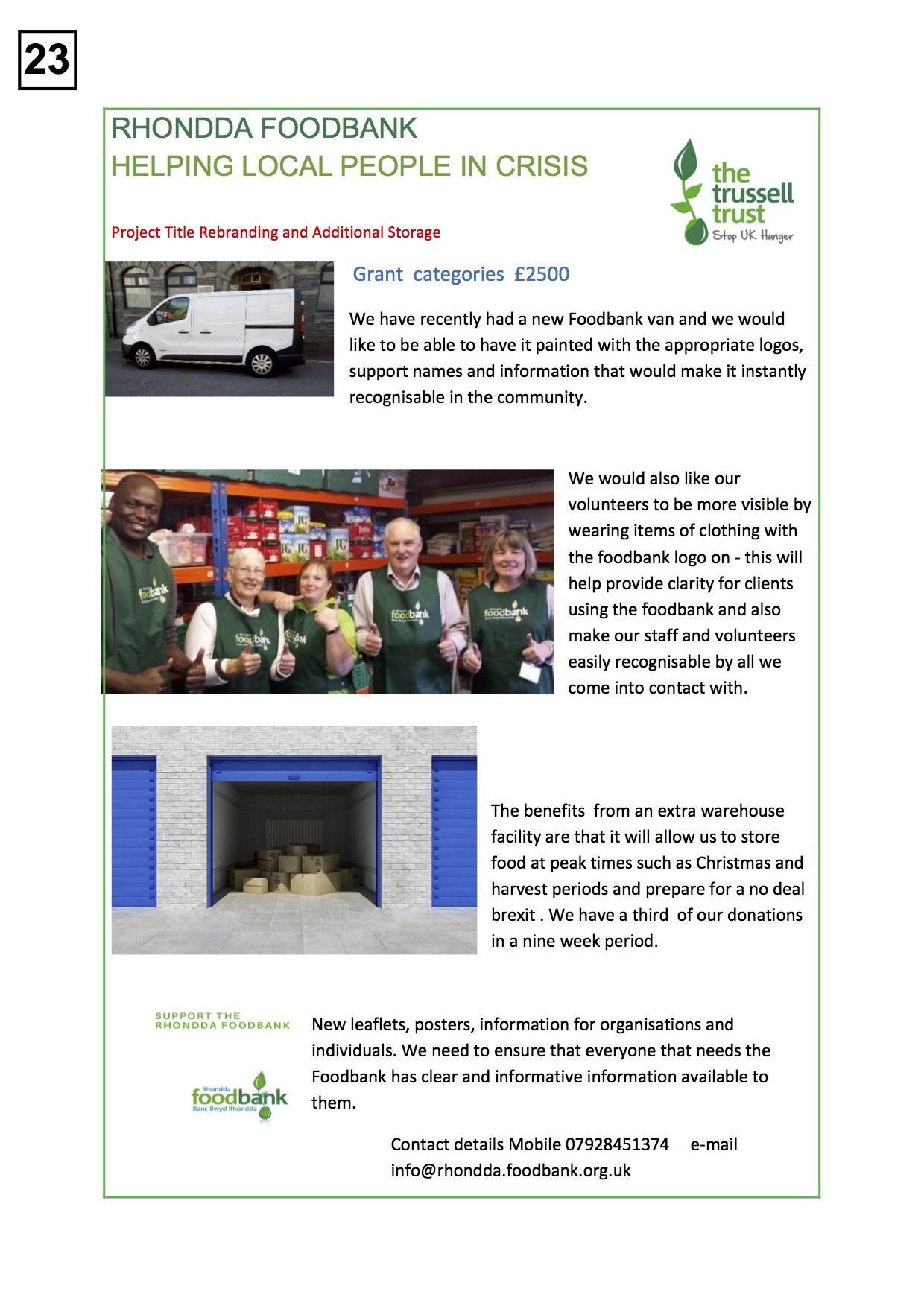 23. Rhondda Foodbank - Poster - 270919