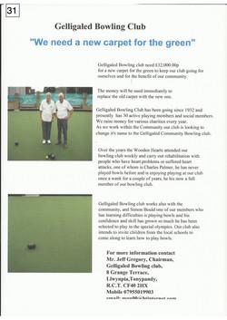31. Gelligaled Bowling club - Poster - 120917