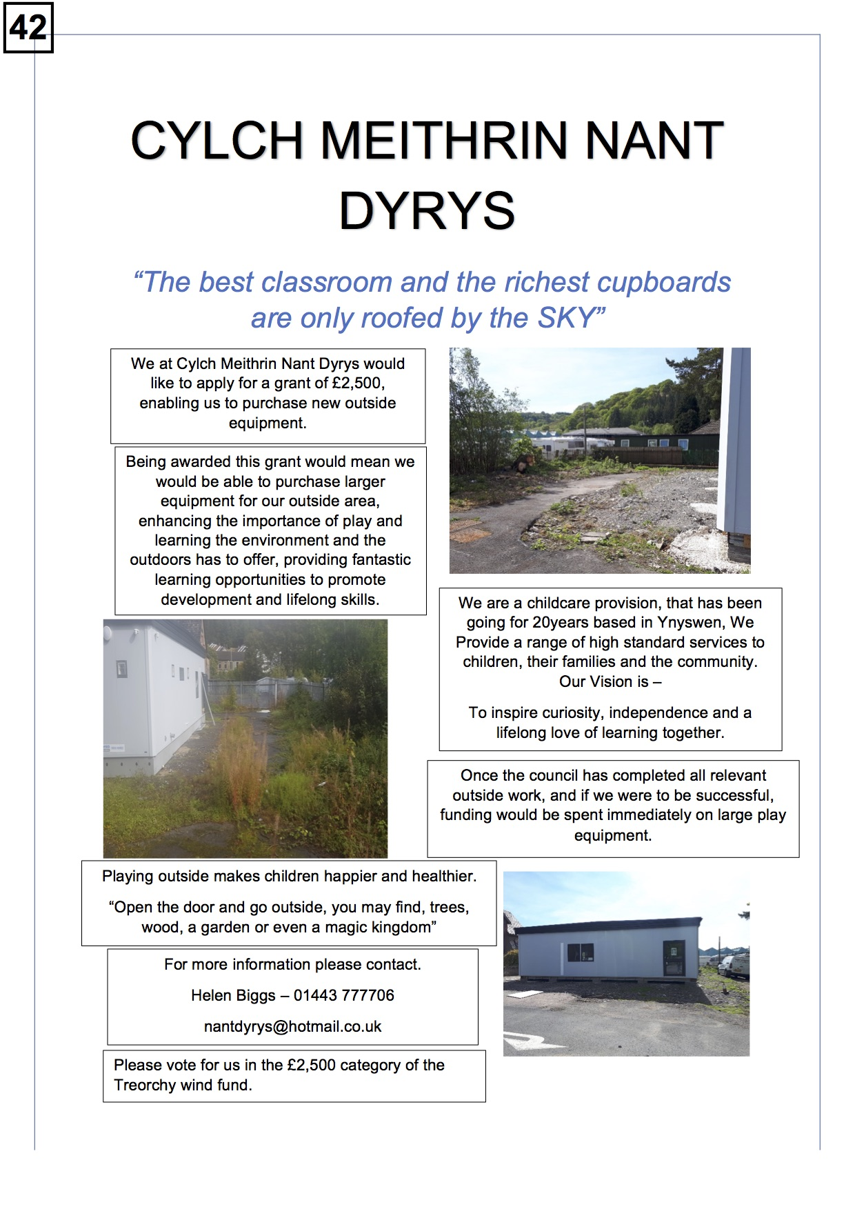 42. Cylch Meithrin ND - Poster - 260919.
