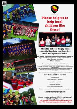20. Rhondda Schools Rugby - Poster - 300917