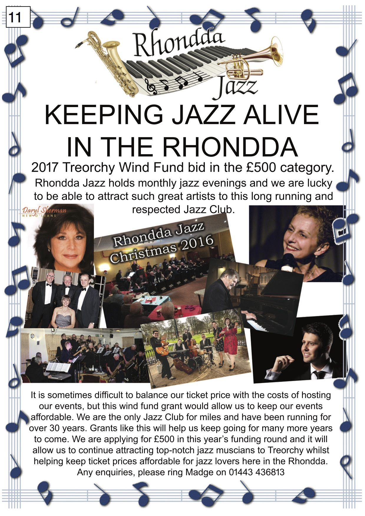 11. Rhondda Jazz - Poster - 300917