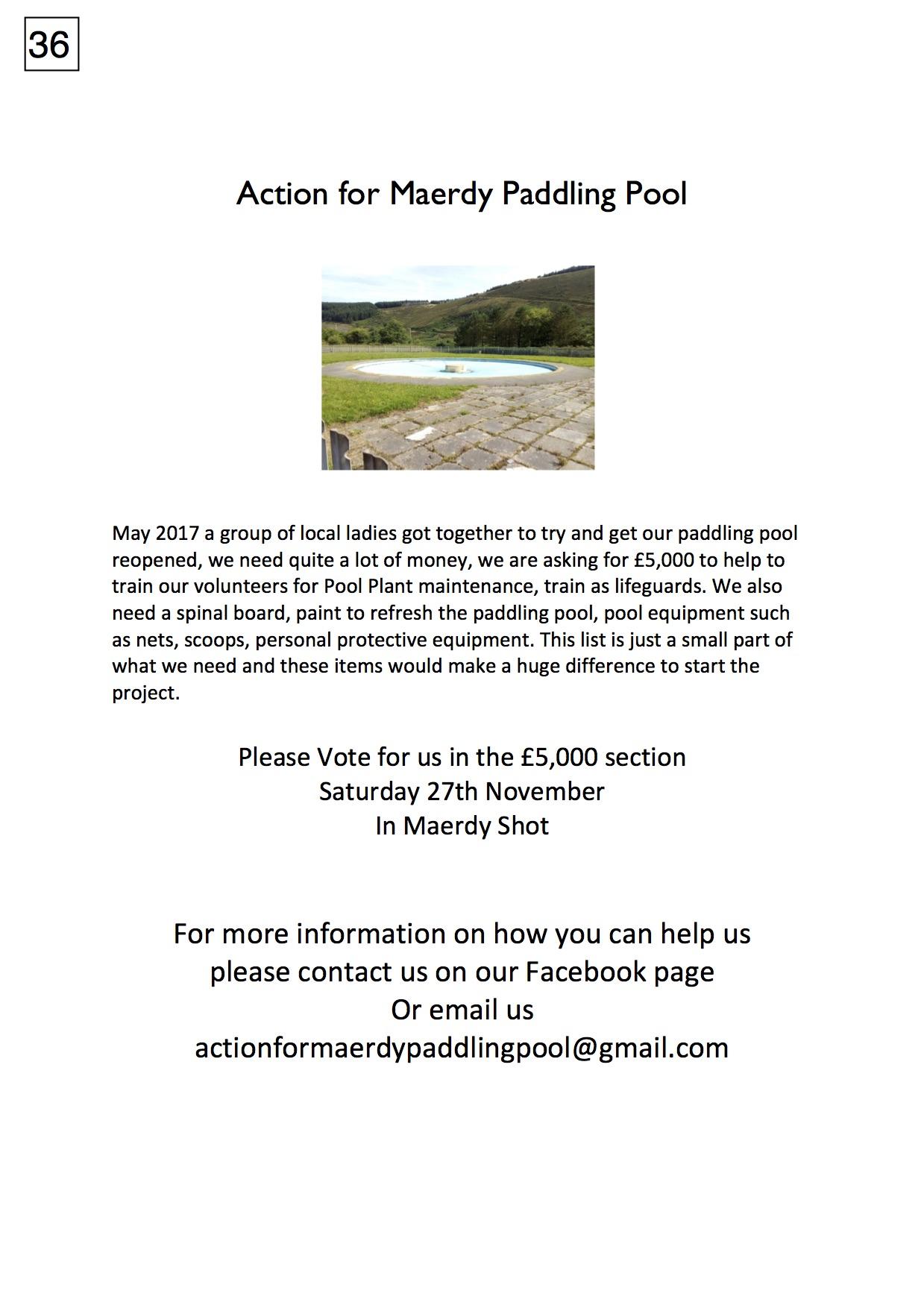 36. Maerdy Paddling Pool - Poster - 221017