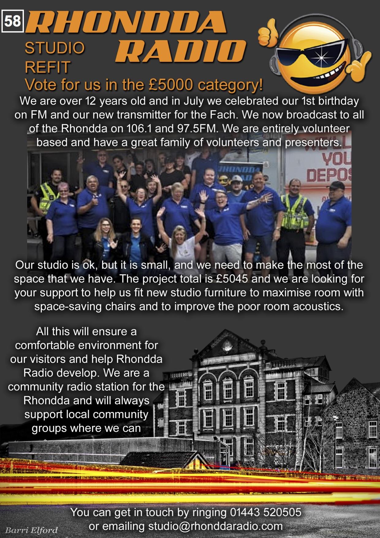 58. Rhondda Radio - Poster - 300919
