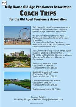 27. Poster for Teify House Old Age Pensioners Association