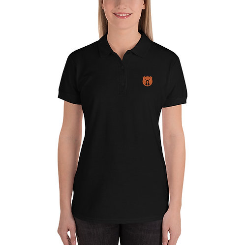 Women's  Rummy Bears Embroidered Polo Shirt