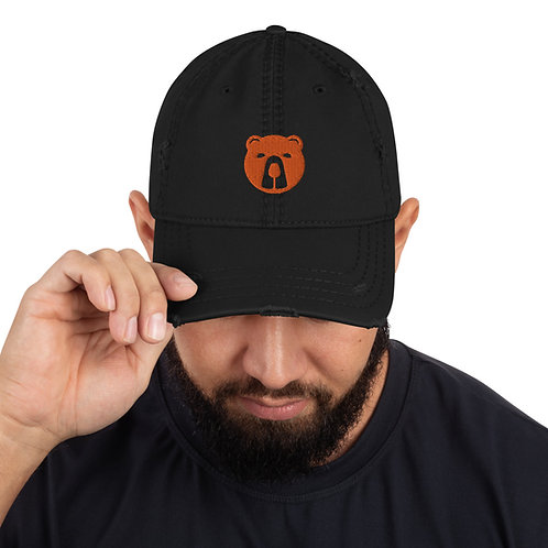 Men's Embroidered Rummy Bear Distressed Hat