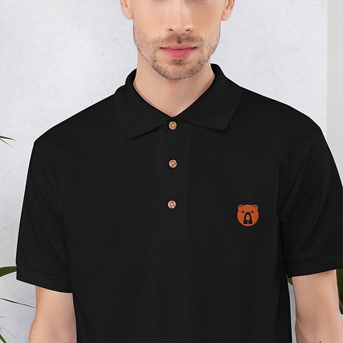 Men's Rummy Bear Embroidered Polo Shirt