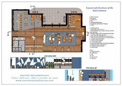 Le plan en 2D de l'aménagement futur