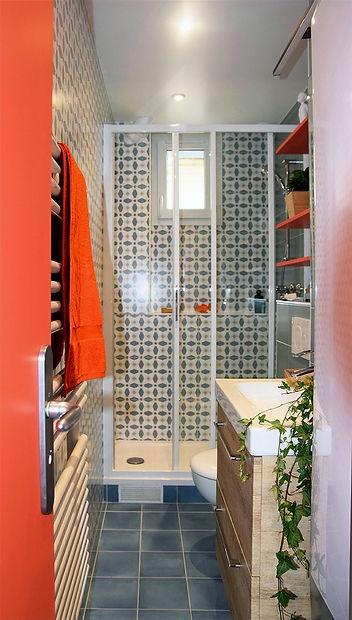 salle d'eau , douche, toilettes, lavabo