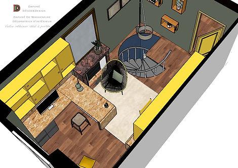 Vue 3D vers l'espace de travail _design