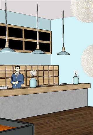 L'accueil des clients- aménagement espace accueil hôtel