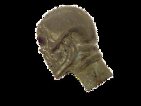 Bronze Compound Skull Stick Head