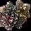 Thumbnail: 925 Silver Multi Gemstone Floral Ring size Q