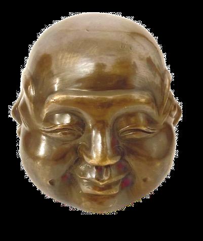 Large Brass Four Faced Buddha