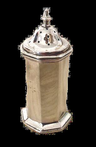 HM Silver Pepperette Chester 1922