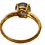 Thumbnail: 9K Gold Mystic Topaz & Diamond Ring Size N