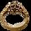 Thumbnail: 9ct Gold CZ Flower Ring Size K/L