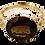 Thumbnail: 9ct Gold Mystic Topaz & Diamond Ring Size O/P