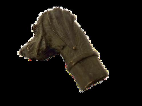Bronze Compound  Dog Stick Head