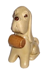 Sylvac Dog with Barrel No 2421