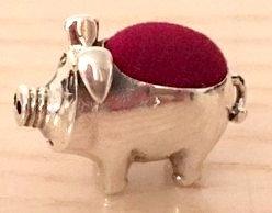 925 Silver  Pig Pin Cushion