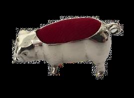 925 Silver Large Pig Pin Cushion