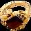 Thumbnail: 9ct Gold Baguette Cut Garnet Ring Size P
