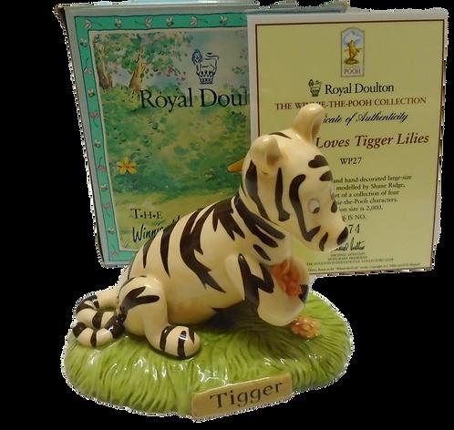 Royal Doulton Winnie the Pooh Tigger Loves Tigger Lilies WP27 Ltd Ed 1674/2000