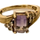 Thumbnail: 9ct Gold Bi-colour Amethyst & Topaz ring Size N