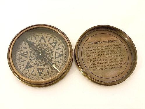 Reproduction Brass Liburnia Warship Compass