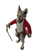 925 Silver & Enamel Fox