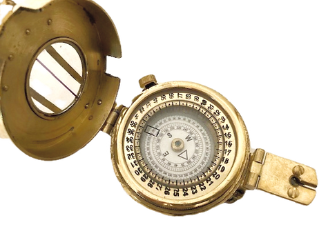Reproduction Brass Military Compass