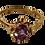 Thumbnail: 9ct Gold Amethyst & Diamond Ring Size O