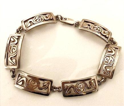 925 Silver Rennie Mackintosh Style Bracelet