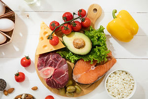 ketogenic-low-carbs-diet-food-selection-