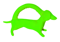 Mini neon green dog
