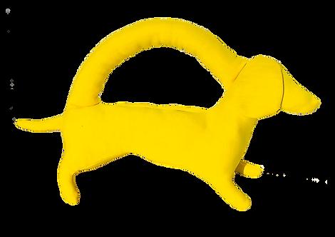 Mini bright yellow dog