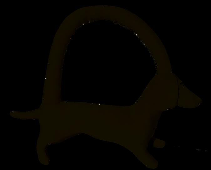 mini long black dog .png