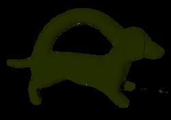 Mini khaki dog