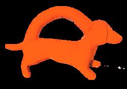 Mini neon orange dog