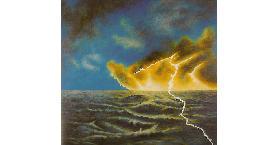 Yun, Hai-Nam, Eye of the Sea, 2004, acrylic on canvas, 86 x 86 cm