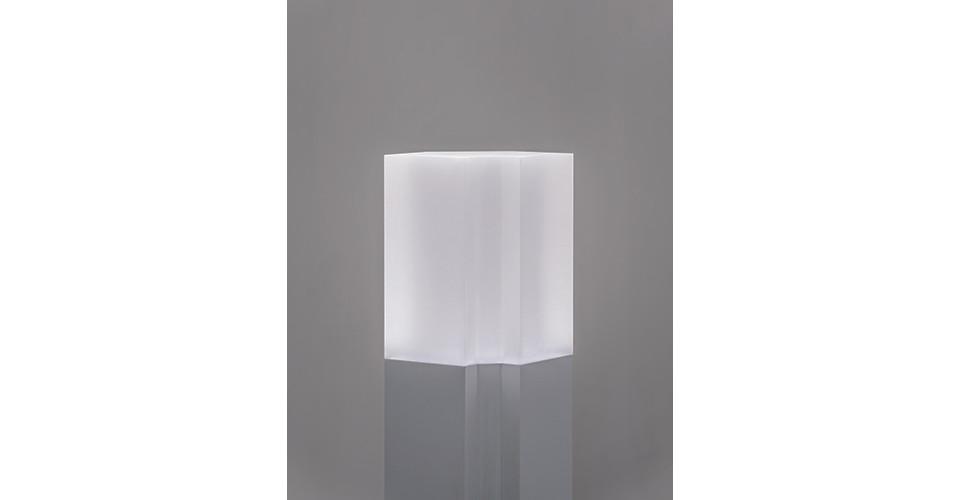 Mind, 2020, acylic block, ABS, microwave sensor, LED, dimension variable (detail), Gallery Simon, 2020