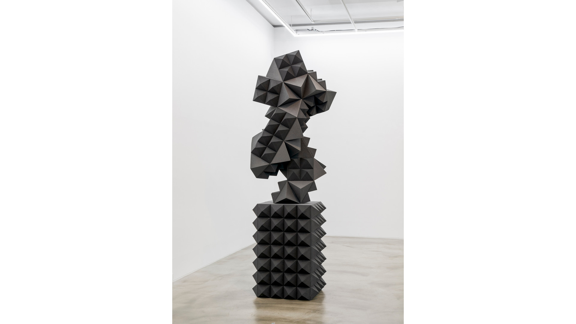 Silent Memorial-III, 2021, Sponge, Wood, Styrofoam, 270 x 85 x 85cm